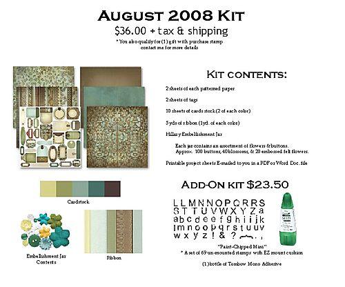August 2008 Kit